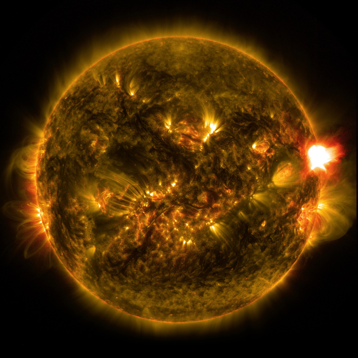 First Solar Flare of 2015