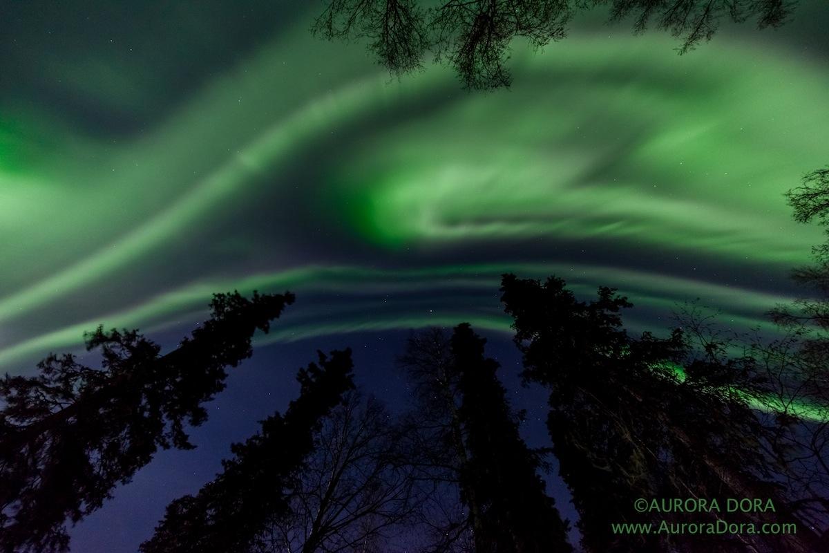 Aurora Over Talkeetna, Alaska, in January 2015