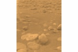The European Space Agency's Huygens lander returned this image from the surface of Saturn's moon Titan on Jan. 14, 2005.