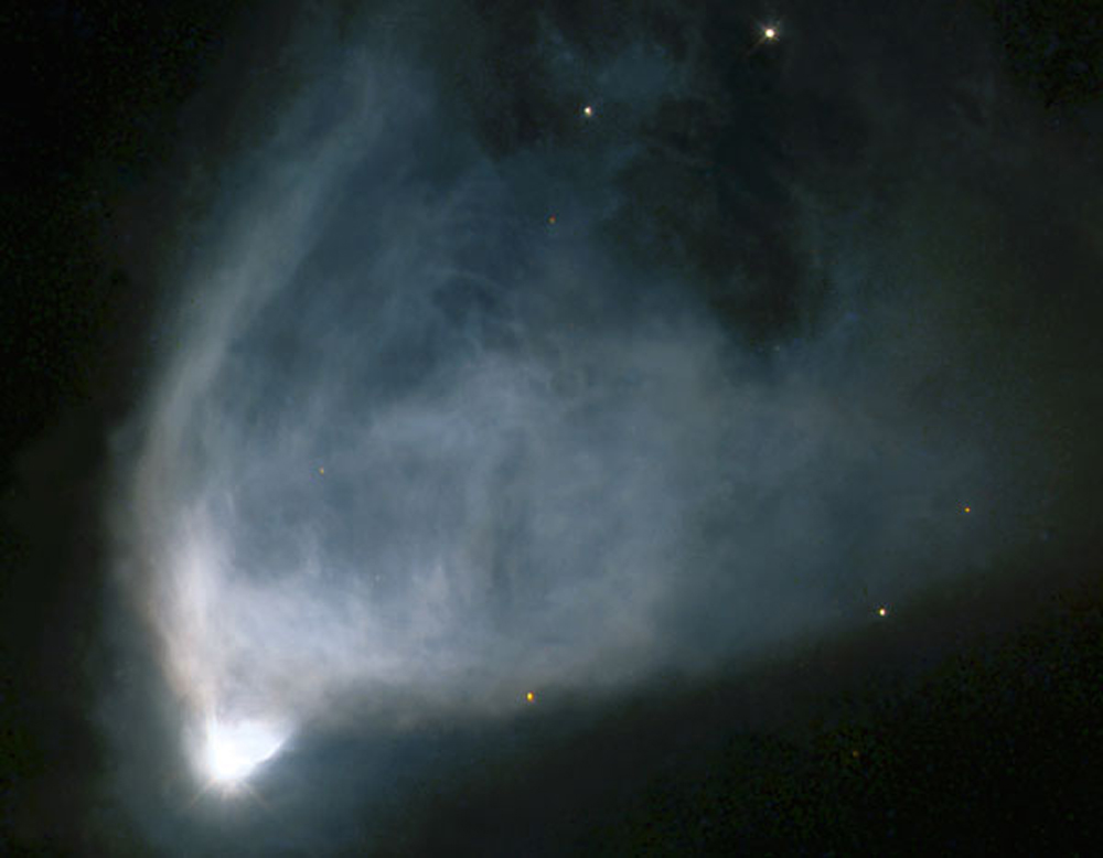 """A strange """"faster-than-light"""" experiment could help astronomers study distant objects like NGC 2261"""