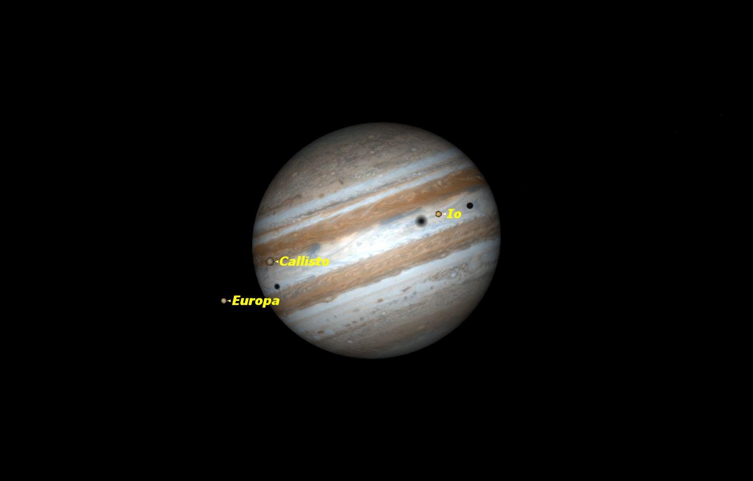 Triple Shadow Transit of Jupiter, Jan. 23, 2015