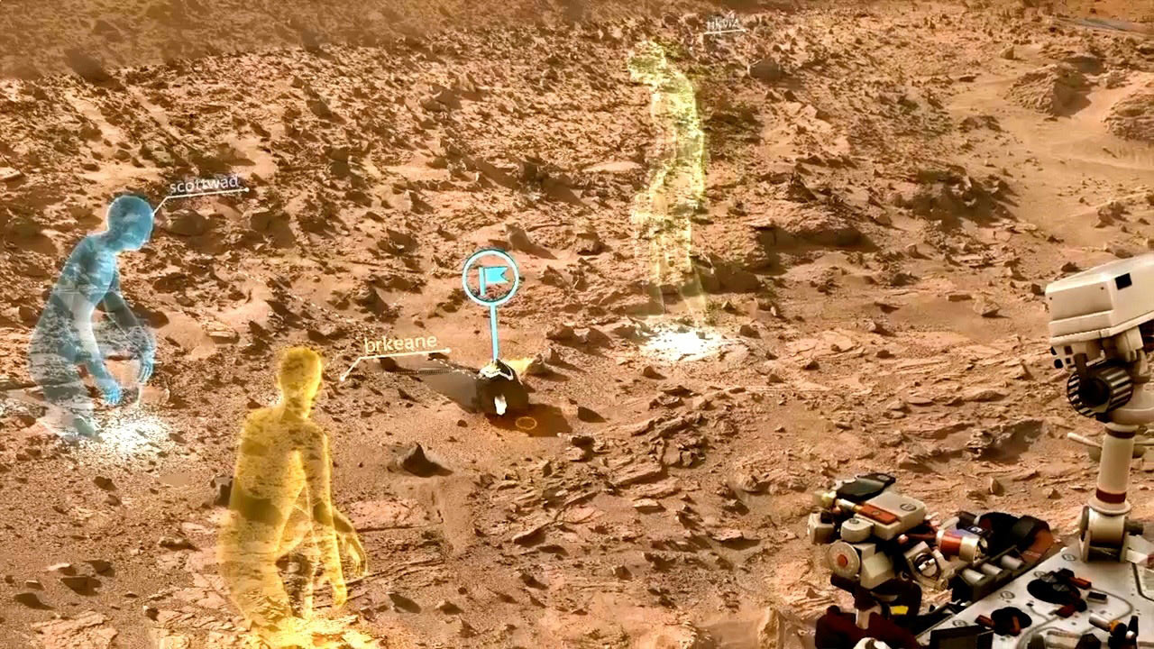 Walking on Mars: NASA, Microsoft Explore Red Planet with Wearable HoloLens