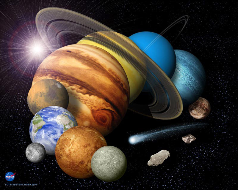 Solar System Montage by NASA