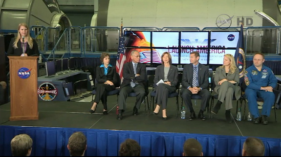 NASA conduted a briefing on the status of the Commerical Crew Program, at Johnson Space Center in Houston, Texas, on Jan. 26, 2015.
