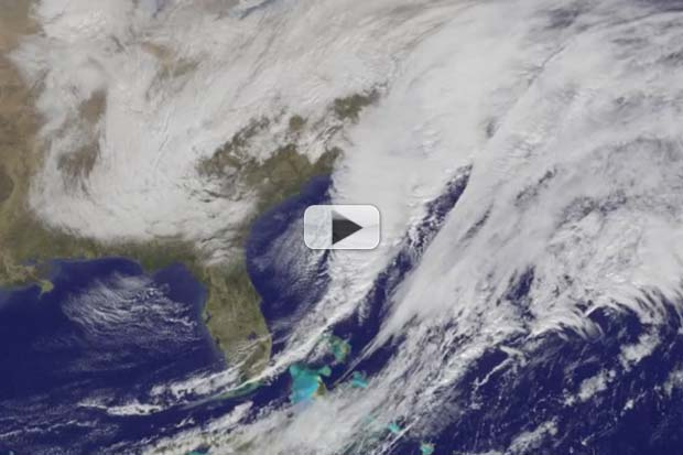 Massive Blizzard 'Juno' Seen Developing From Space | Time-Lapse Video