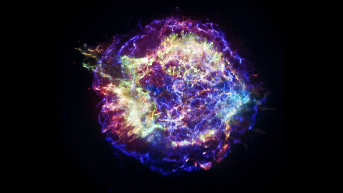 Radioactive Bubbles May Have Punched Holes in Supernova's Heart