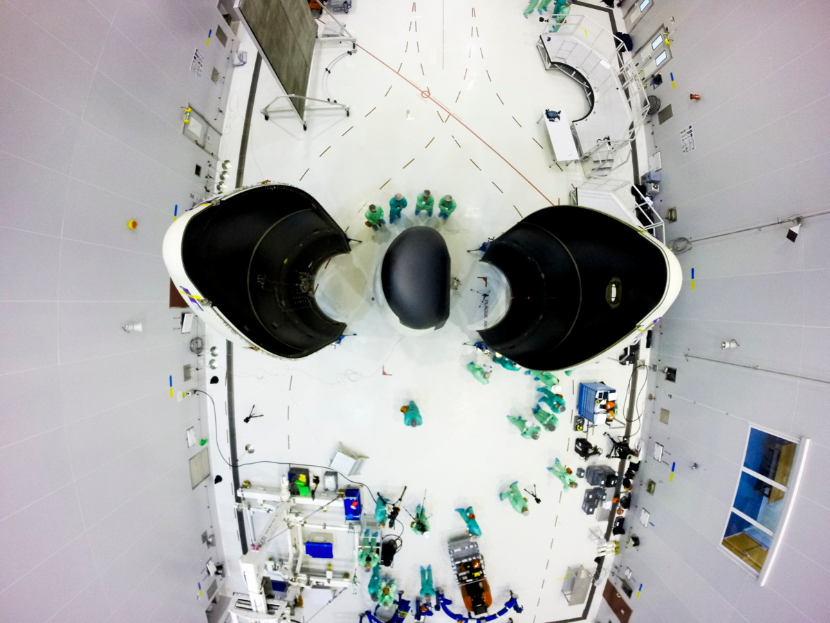 IXV During Fairing Encapsulation