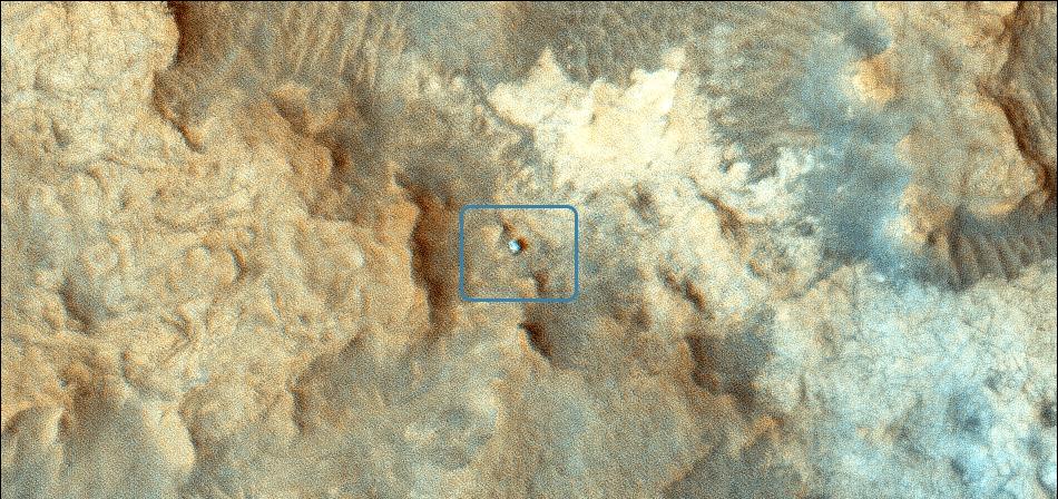 Curiosity on Mars from MRO