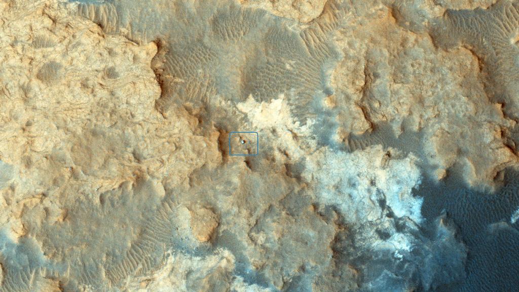 Curiosity Seen By MRO