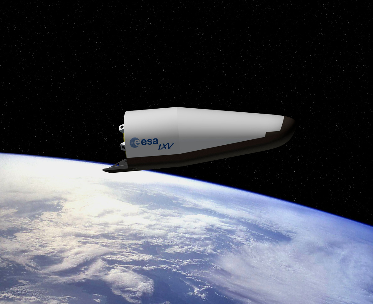 Artist Impression of ESA's Intermediate eXperimental Vehicle