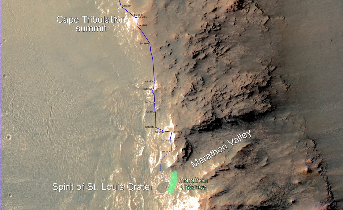 Opportunity Rover Nears Mars Marathon Distance