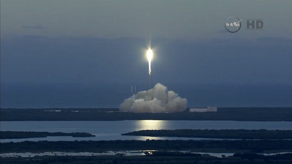 A SpaceX Falcon 9 rocket launched the DSCOVR satellite from Cape Canaveral in Florida on Feb. 11, 2015.