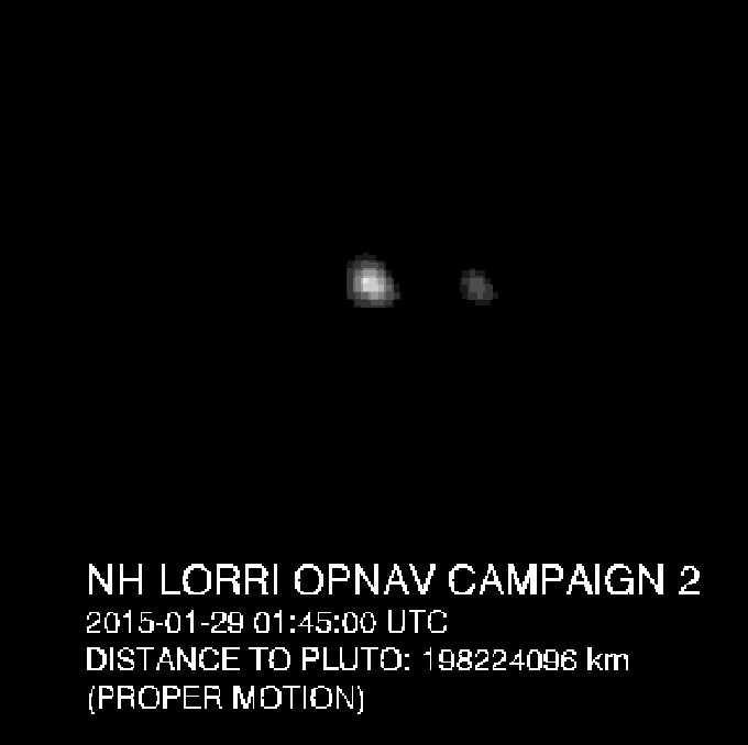 New Horizons View of Pluto and Charon