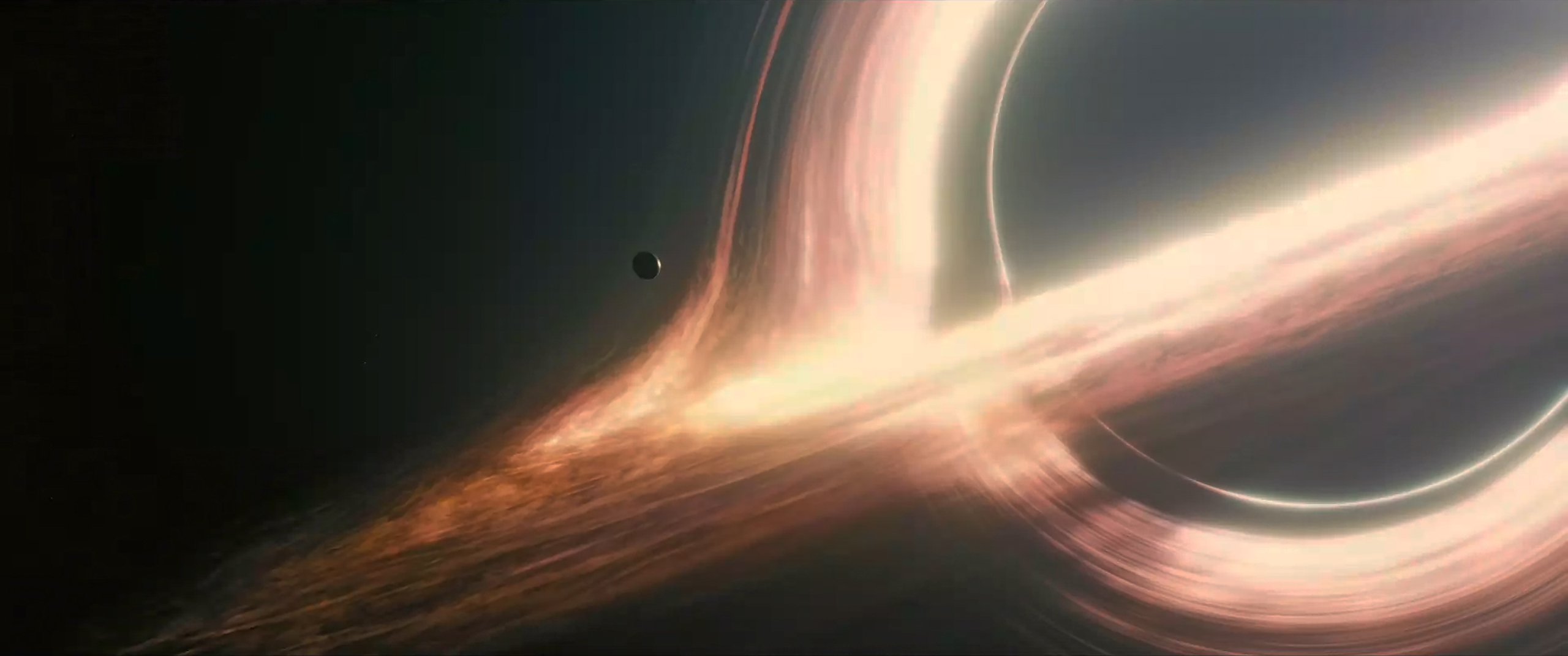 "The supermassive black hole Gargantua plays a major role in the 2014 sci-fi blockbuster ""Interstellar.""  Paramount"