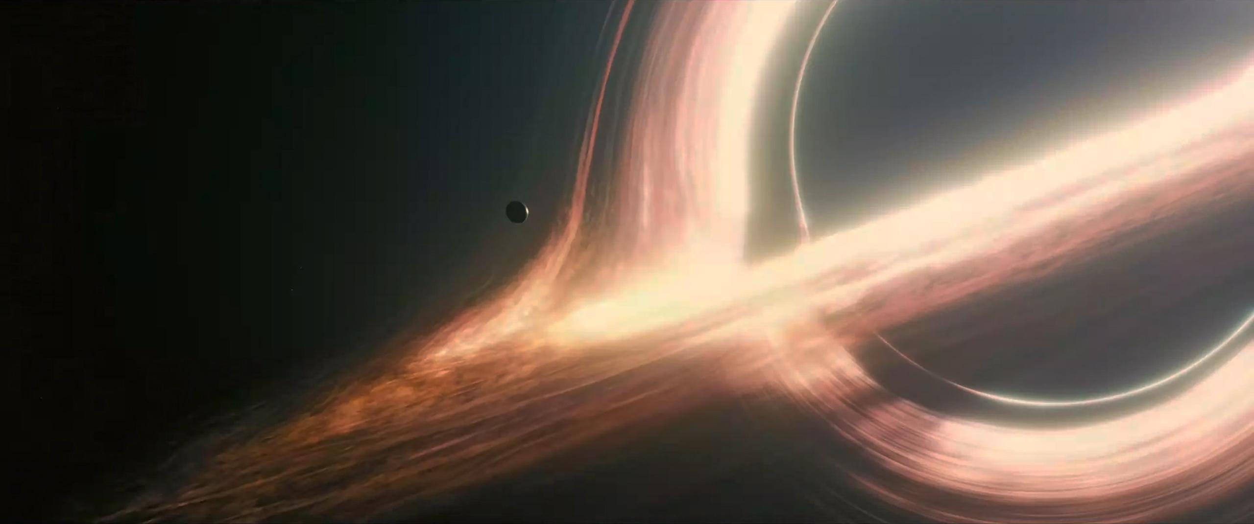 "The supermassive black hole Gargantua plays a major role in the 2014 sci-fi blockbuster ""Interstellar.""  Paramount"