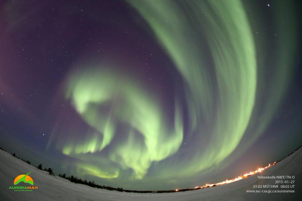 Aurora Over Yellowknife, Canada, Jan. 27, 2015
