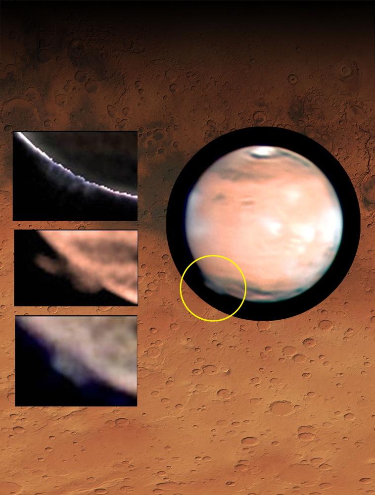 High Altitude Plume on Mars