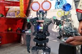 The Meccanoid robots from Spin Master are fully programmable and buildable machines.