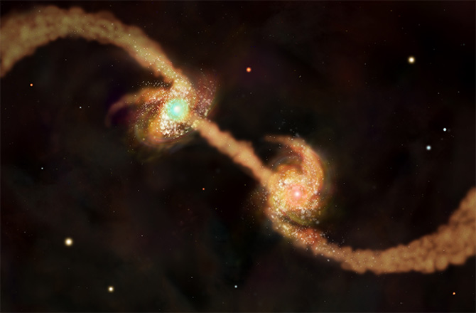 Spiral Galaxies About to Collide