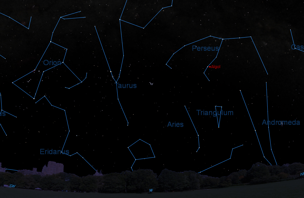 See the Demon Star Algol 'Wink' in the Night Sky