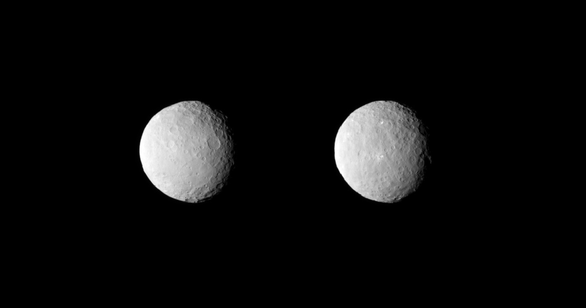Uncropped Images of Dwarf Planet Ceres