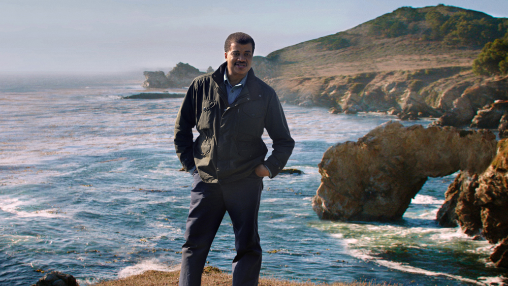 """Astrophysicist Neil deGrasse Tyson in a scene from """"Unafraid of the Dark,"""" the final episode of """"Cosmos: A Spacetime Odyssey."""" Tyson will receive the National Academy of Sciences' highest award, the Public Welfare Medal, on April 26, 2015."""