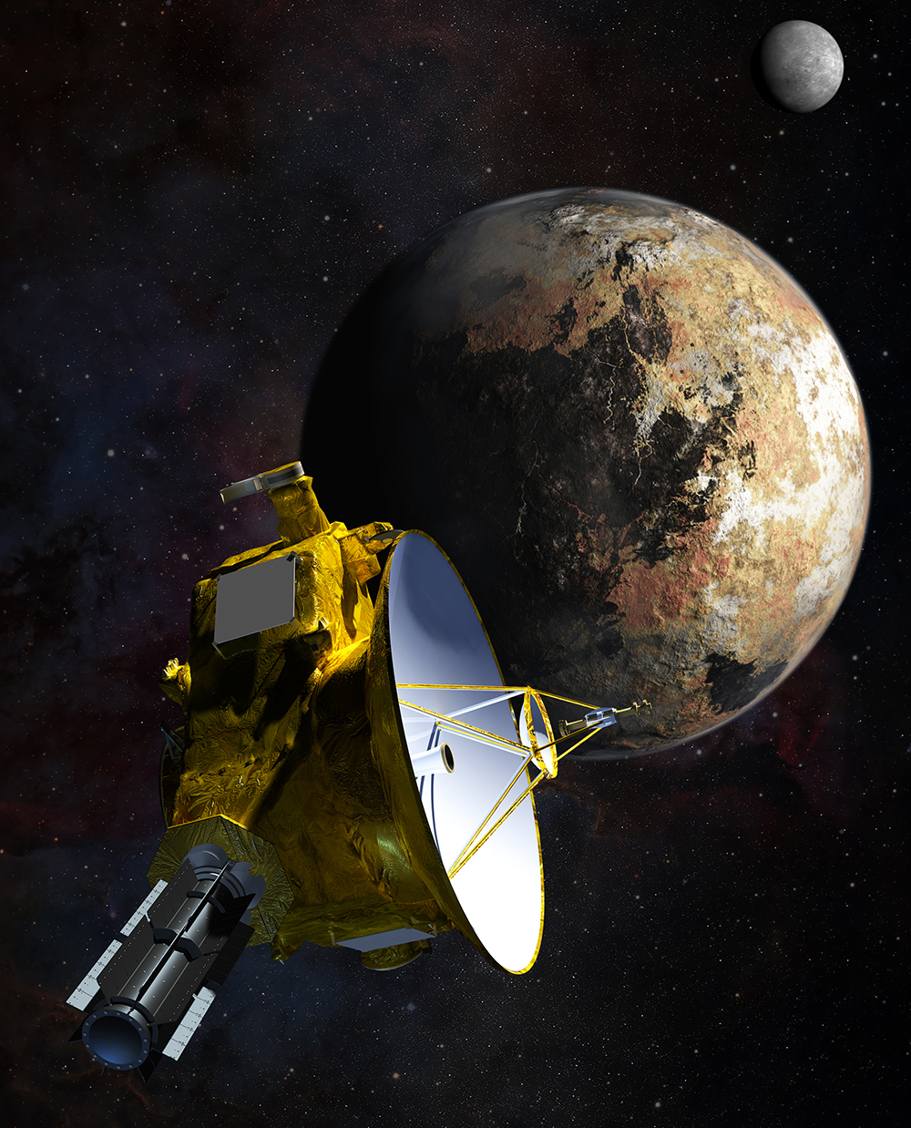 Artist's concept of NASA's New Horizons Spacecraft