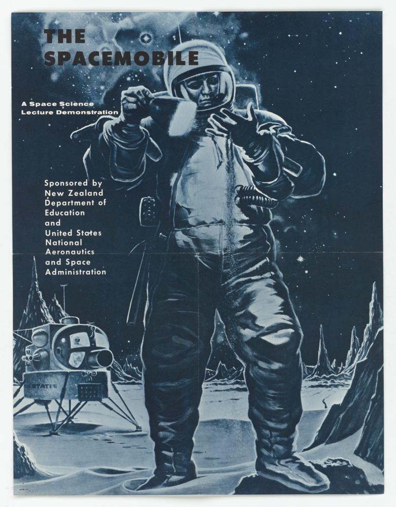 Beast vintage space poster