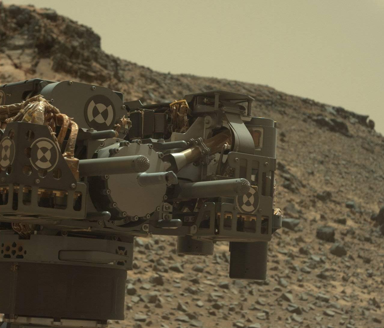 Mars Rover Curiosity at Telegraph Peak