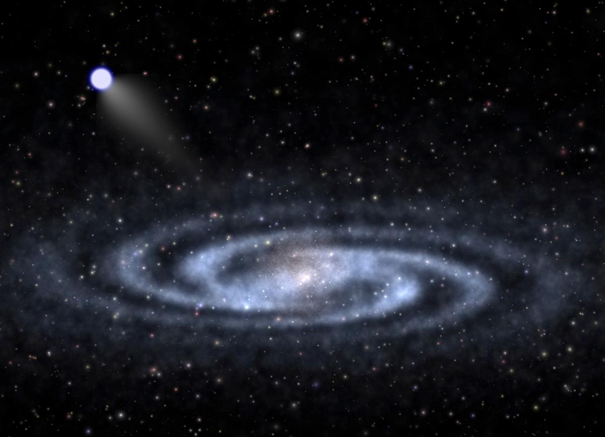 Hypervelocity Star Speeding Away