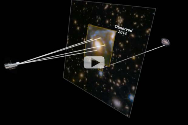 Galaxy Cluster's Mass Splits View of Supernova Behind | Video