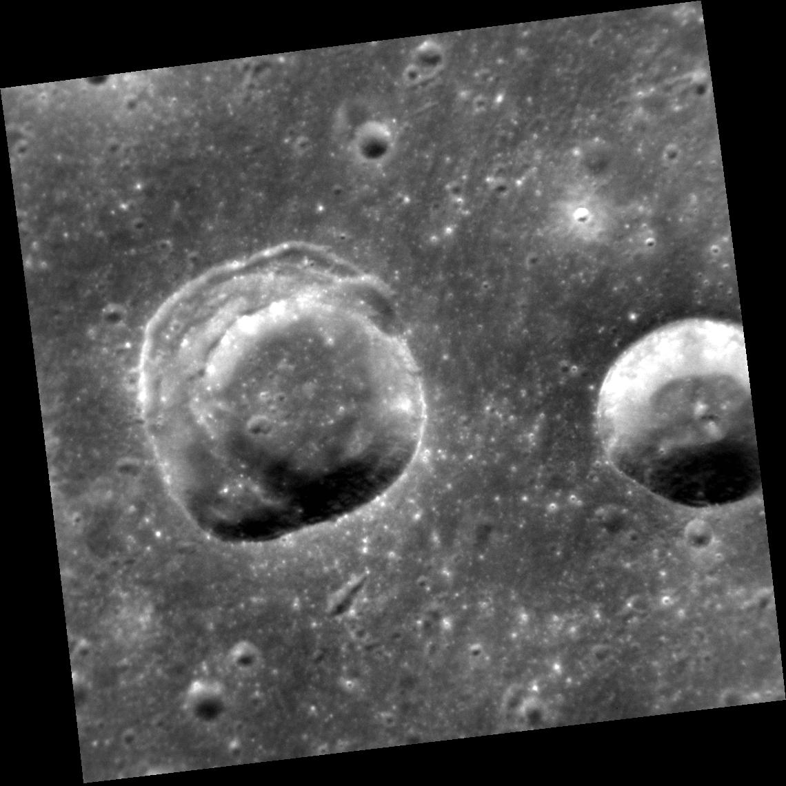 Crater with Slumping Sides on Mercury