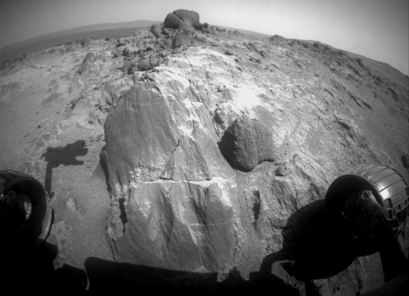 On Mars, Opportunity Rover Spots Weird Rocks Near Marathon Finish Line