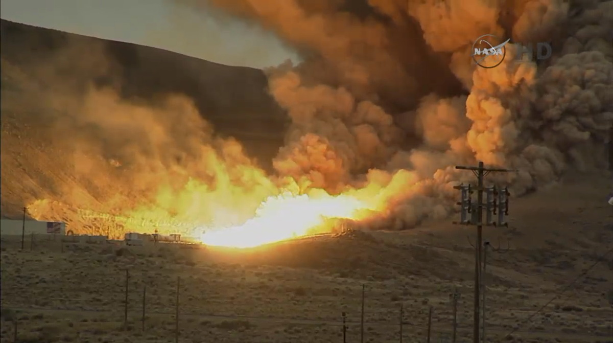Photos: NASA's Space Launch System Rocket Booster Test in Pictures