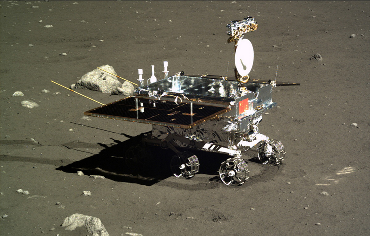 Chinese Yutu Rover on the Moon