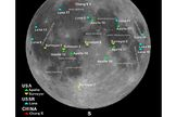 Map showing where moon missions have touched down.