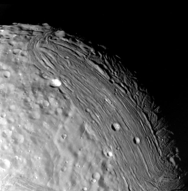 Surface of Uranus' Moon Miranda