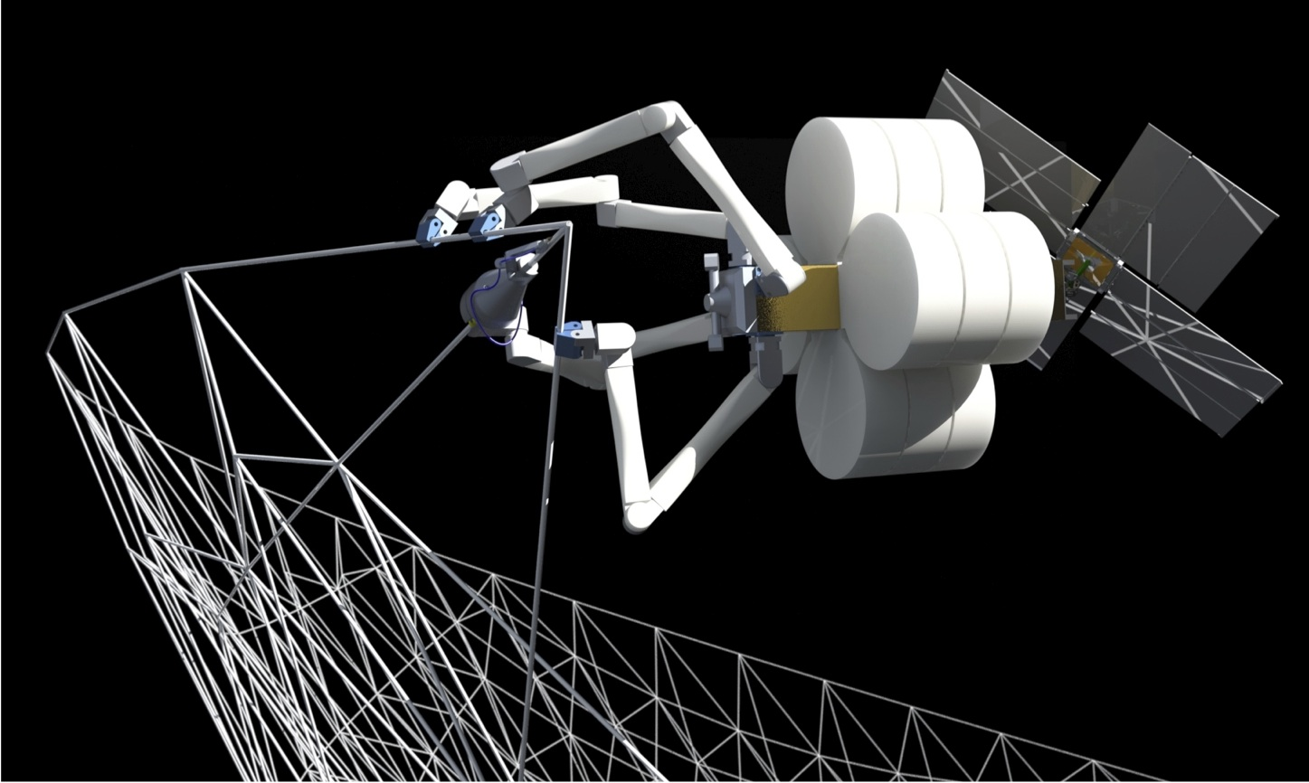 Incredible Technology: Spiderlike Robots Could Build Giant Space Structures