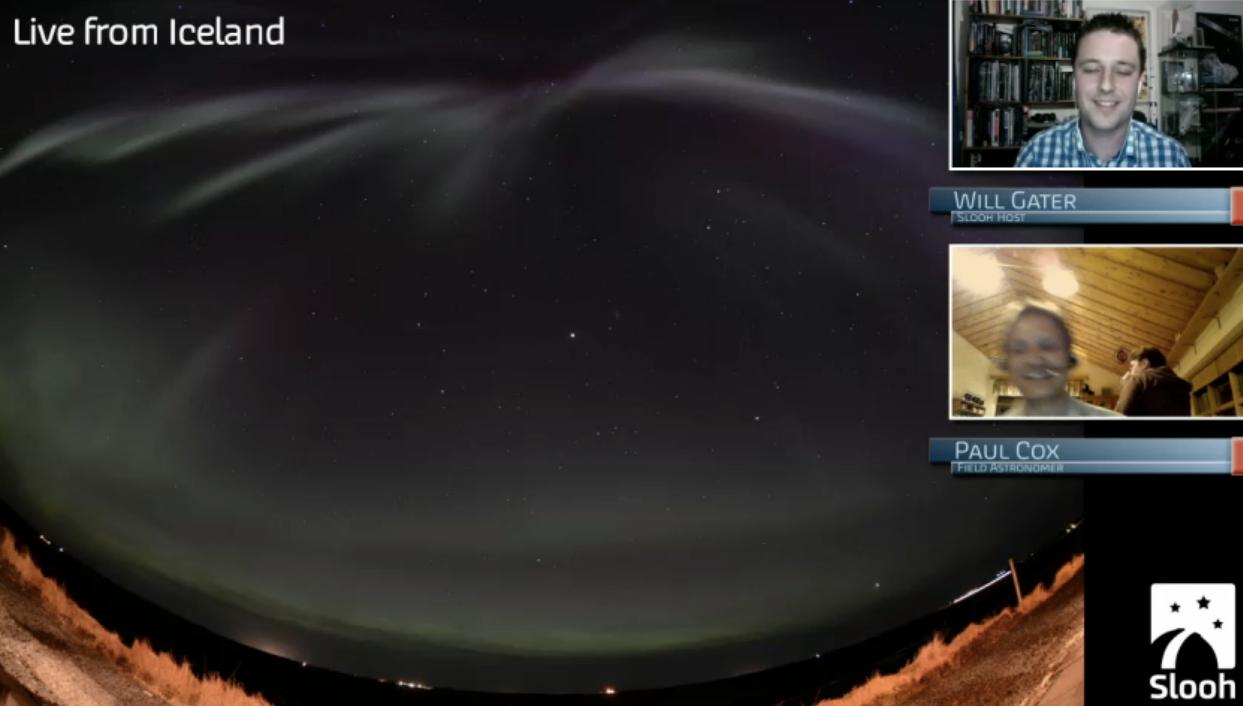 Slooh Aurora in Iceland