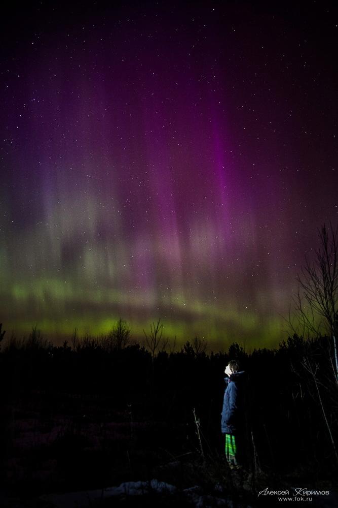 Aurora Near Moscow, March 17, 2015