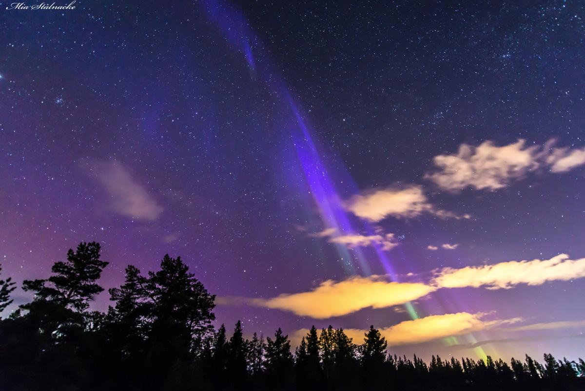 Blue Aurora Over Sweden, March 17, 2015