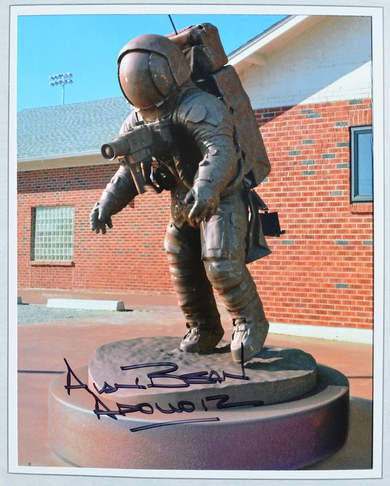 Alan Bean Statue Autorgraphed Photo