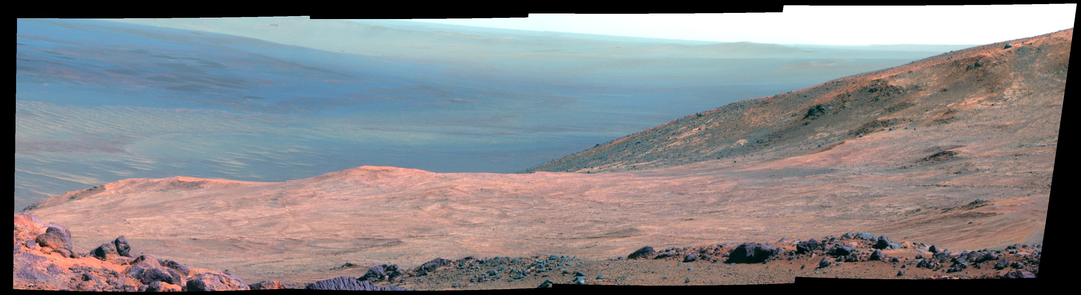Opportunity Mars Rover's View of Marathon Valley