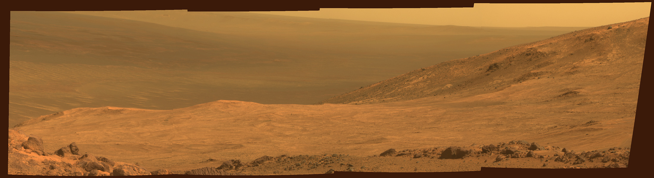 Marathon Valley, Seen by NASA's Opportunity Mars Rover
