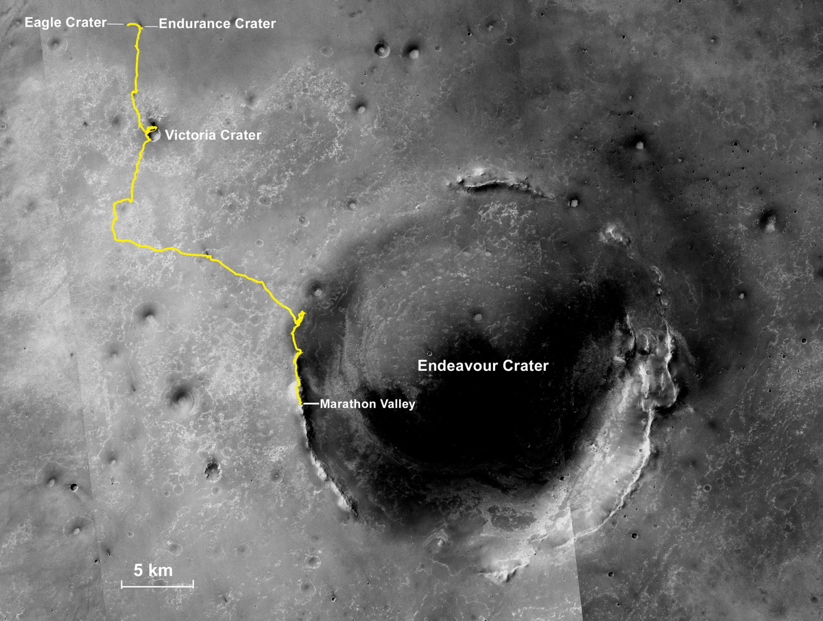 Opportunity Rover's Marathon-Length Traverse