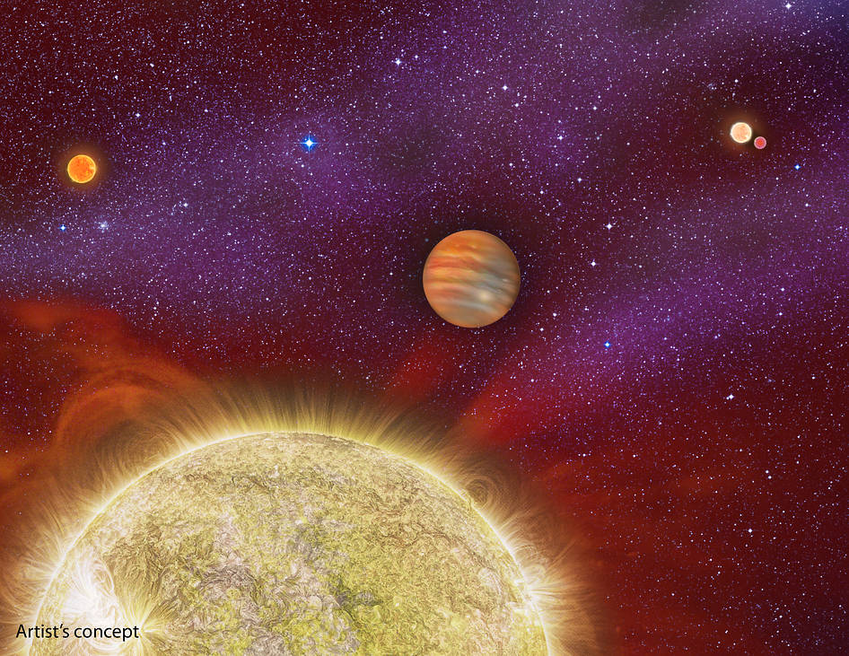 Giant Alien Planet Has 4 Suns in Its Sky