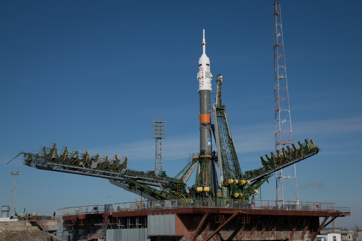 Expedition 43 Soyuz on Launch Pad