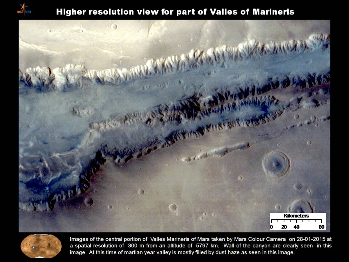 Valles Marineris Higher Resolution Image
