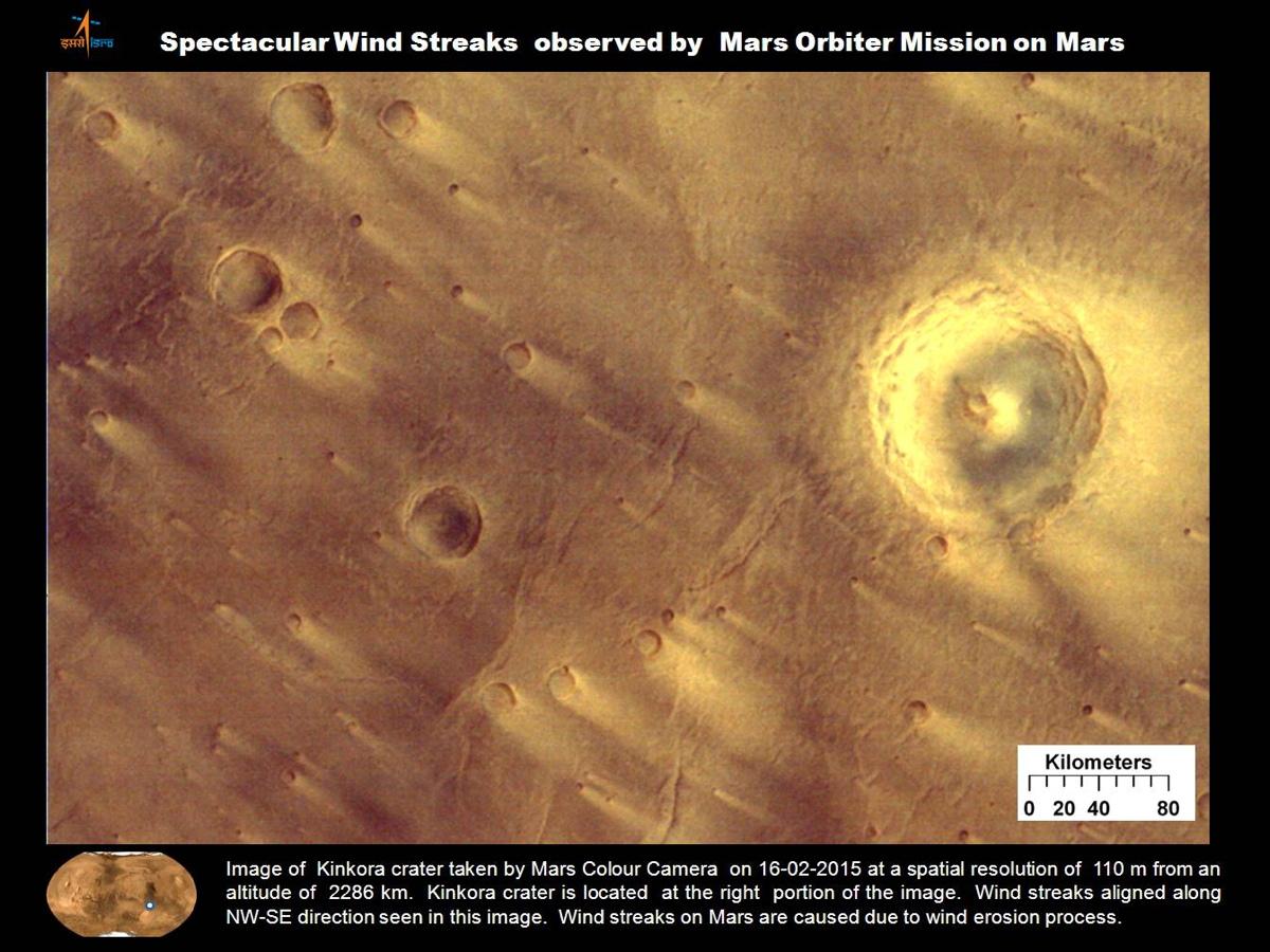 Wind Streaks on Mars