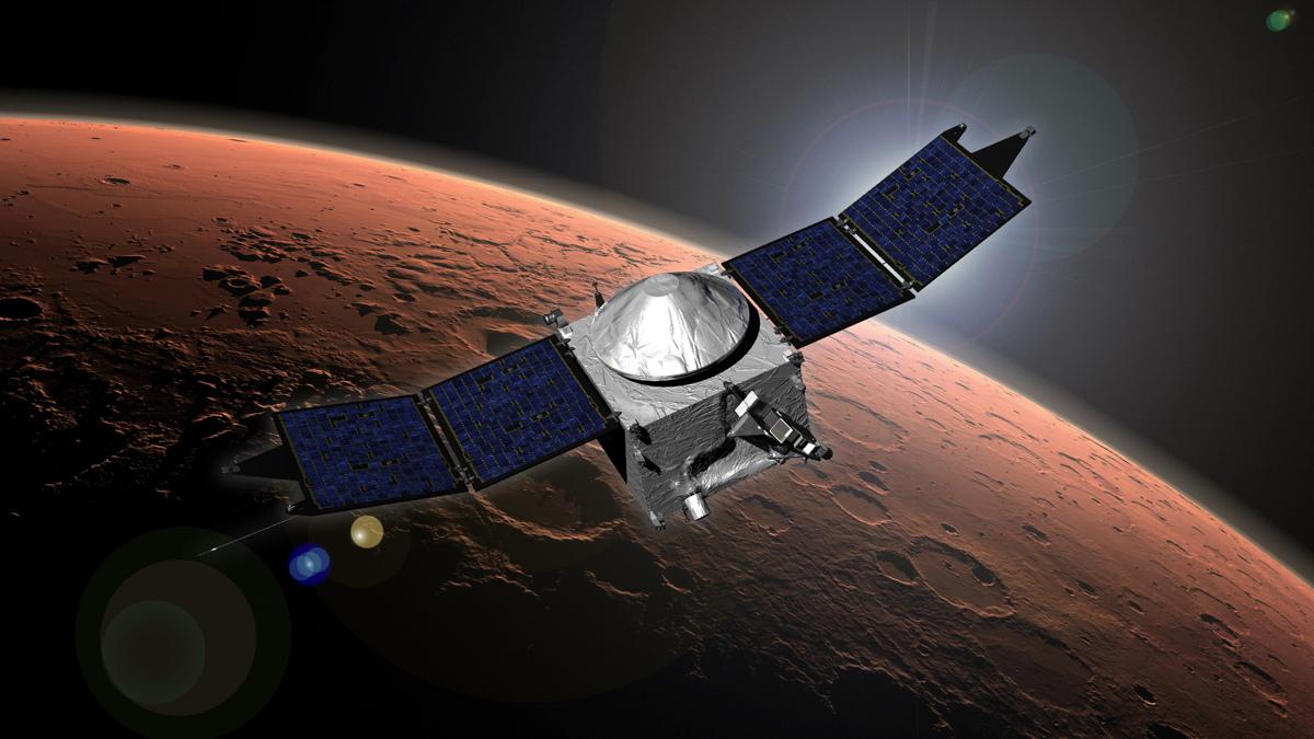 NASA Spacecraft Takes 'Deep Dip' Into Martian Upper Atmosphere